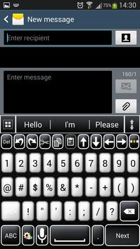 Black and White Keyboard apk screenshot