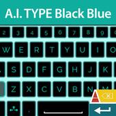 A. I. type Black Blue א icon