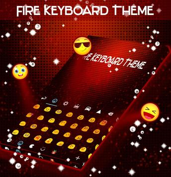 Fire Keyboard Theme poster