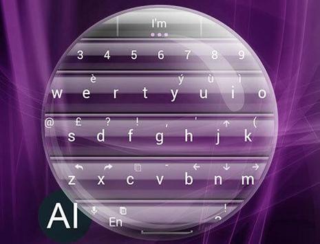 Theme for A.I.type Glass Pink apk screenshot