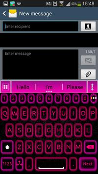 A.I. Type Pink Neon א apk screenshot