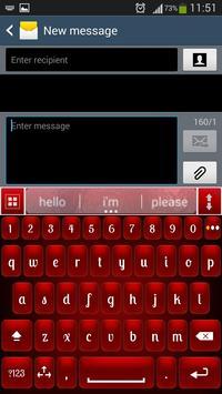 Red Shine Keyboard poster