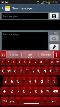 Red Shine Keyboard screenshot 1