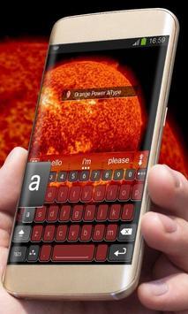 Orange Power AiType Skin apk screenshot