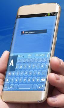 Blue patterns AiType Skin apk screenshot