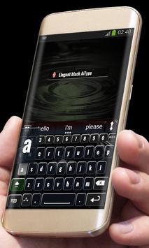 Elegant black AiType Skin apk screenshot