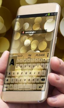 Gold delight AiType Skin apk screenshot
