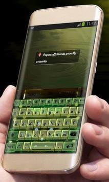 Green Glass AiType Skin apk screenshot