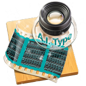 Black and Blue AiType Theme icon