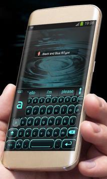 Black and Blue AiType Theme screenshot 1