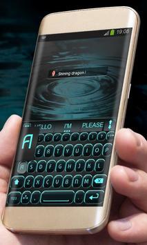 Black and Blue AiType Theme screenshot 2