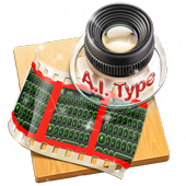 Black and Green AiType Theme icon