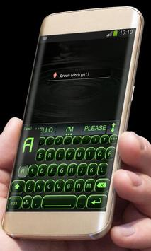 Black and Green AiType Theme apk screenshot