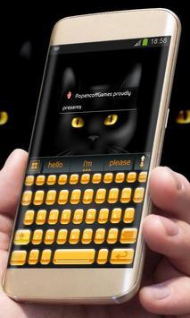 Black Cat AiType Theme screenshot 4