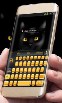 Black Cat AiType Theme screenshot 1