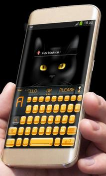 Black Cat AiType Theme screenshot 2