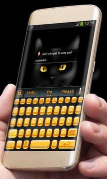 Black Cat AiType Theme screenshot 3