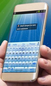 Blue imagination AiType Theme screenshot 3