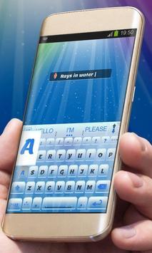 Blue imagination AiType Theme screenshot 2