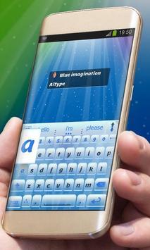 Blue imagination AiType Theme screenshot 9