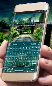 Blue Road AiType Theme apk screenshot