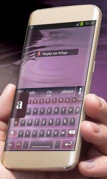 Purpley star AiType Theme apk screenshot
