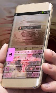 Pink Gun AiType Theme screenshot 1
