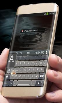 Planetary rain AiType Theme apk screenshot