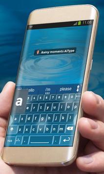 Rainy moments AiType Theme apk screenshot
