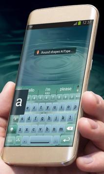 Round shapes AiType Theme apk screenshot