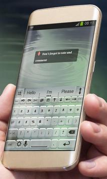 Steamy sea AiType Theme apk screenshot