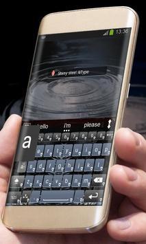 Shiny steel AiType Theme apk screenshot