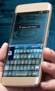 Spider webs AiType Theme apk screenshot