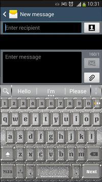 A.I. type Silver Glitter א apk screenshot