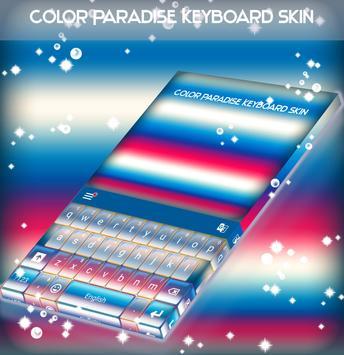 Color Paradise Keyboard Skin apk screenshot