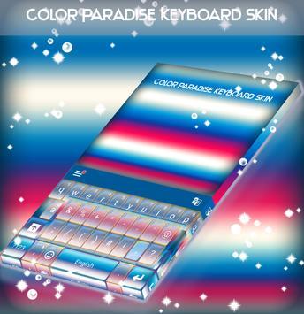 Color Paradise Keyboard Skin poster