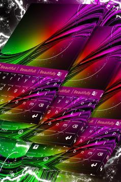 Neon Burst Keyboard Skin poster