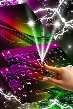 Neon Burst Keyboard Skin apk screenshot