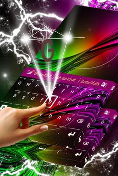 Neon Burst Keyboard Skin apk screenshot