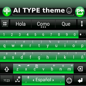 THEME FOR AI TYPE BLACK GREEN icon