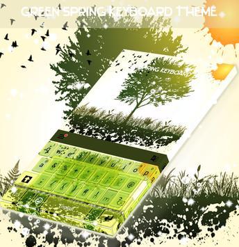 Green Spring Keyboard Theme poster