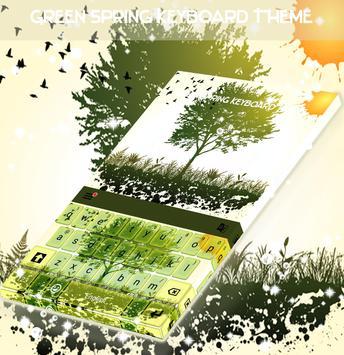 Green Spring Keyboard Theme apk screenshot