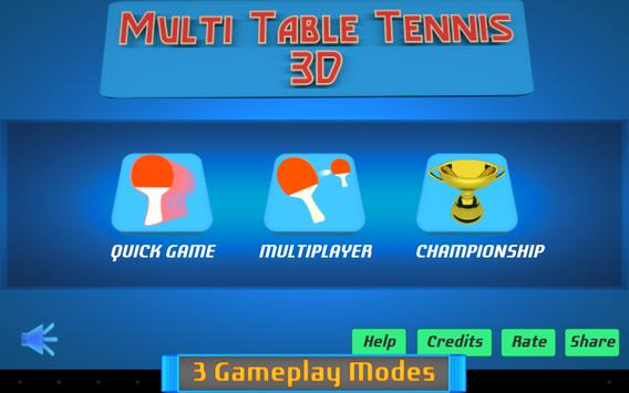 Multi Table Tennis 3D poster