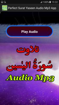Perfect Surat Yaseen Mp3 App apk screenshot