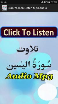 Sura Yaseen Listen Mp3 Audio poster