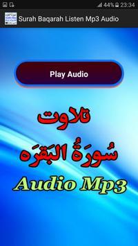 Surah Baqarah Listen Mp3 Audio apk screenshot