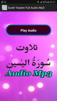 Surah Yaseen Full Audio Mp3 screenshot 1