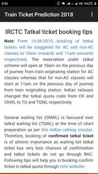 Train Ticket Prediction 2018 screenshot 2