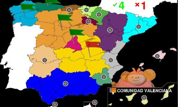 Spanish geography apk screenshot