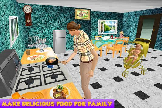 Virtual Single Mom New Baby Born Sim screenshot 4